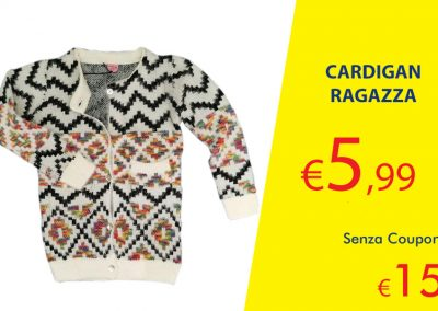 Coupon cardigan ragazza