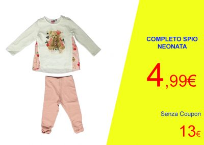 Coupon completo orsetto neonata