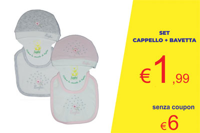 coupon set cappello e bavetta