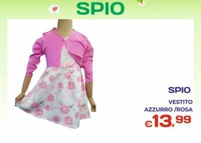 Vestito femminuccia rosa e azzurro