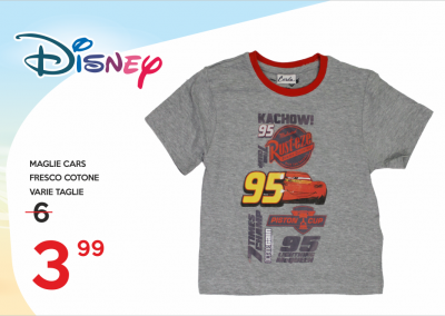 maglie cars 3,99